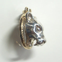 Handmade 14k Yellow Gold Sterling Mountain Lion Cougar Pendant - Greg DeMark