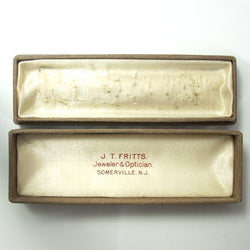 Antique Stickpin Box J.T. Fritts Jeweler & Optician Somerville N.J. - Greg DeMark