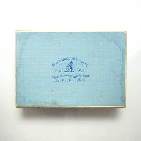Vintage Jewelry Gift Box Powder Blue Cardboard Mid 20th Century - Greg DeMark