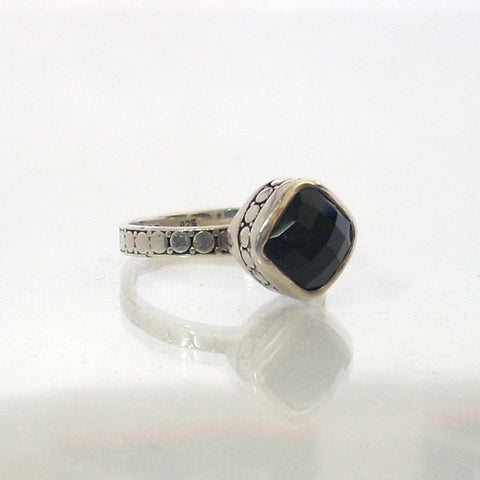 Vintage Sterling Square Black Onyx Ring Size 7.25 Janice Girardi - Greg DeMark
