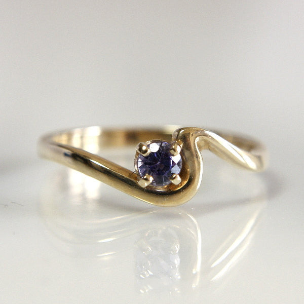Tanzanite Engagement Ring 14k Yellow Gold Size 6.5 Wedding Jewelry - Greg DeMark
