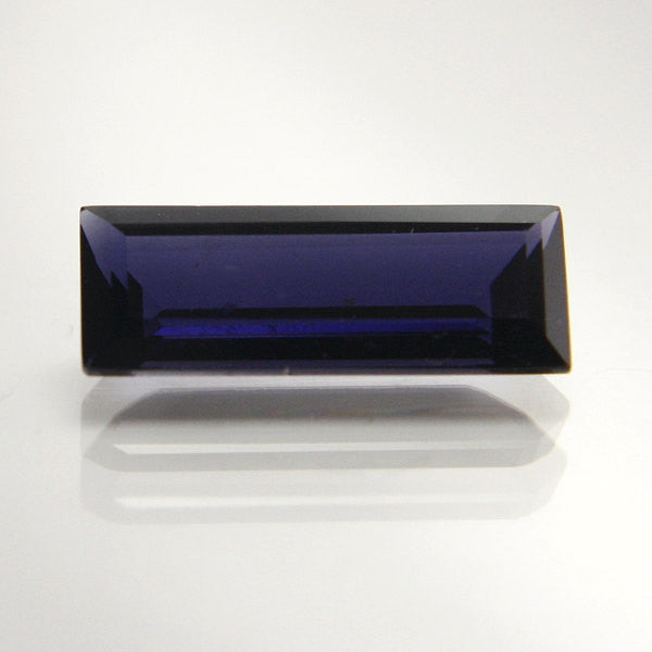 Loose Natural Iolite Faceted Gemstone 2.16 carat Rectangular Step Cut - Greg DeMark