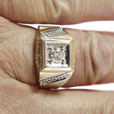 Men's Vintage Diamond Ring 14K Two Tone .49 Carats TW Size 9 - Greg DeMark