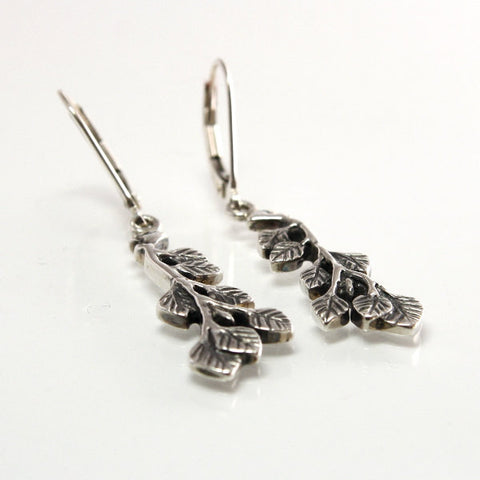 Sterling Leverback Aspen Leaf Dangle Earrings - Greg DeMark