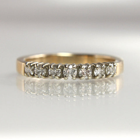 Diamond Wedding Band 14k Two Tone 1/3 Carat Total Weight Size 6 - Greg DeMark