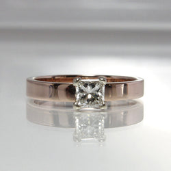 14K Rose Gold Princess Cut Diamond Engagement Ring Size 6 - Greg DeMark