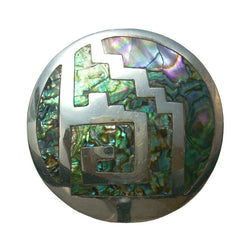 Vintage Mexican Sterling Abalone Labyrinth Pendant Brooch RPB - Greg DeMark