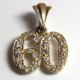 Vintage 14K Diamond 60th Anniversary Pendant - Greg DeMark