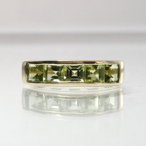 Vintage 14K Yellow Gold Peridot Ring Size 7 - Greg DeMark