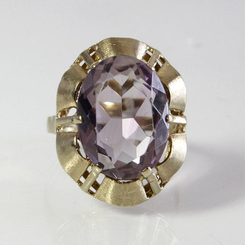 Vintage Amethyst Ring Handmade Size 8 German 8K Gemstone 6.88 Carat - Greg DeMark