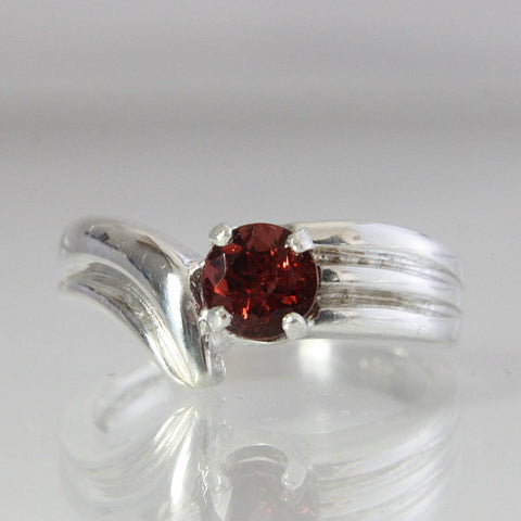 Garnet Engagement Ring Vintage Sterling Silver Size 7.25 - Greg DeMark