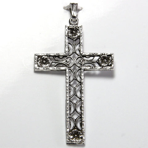 Vintage Sterling Filigree Cross Pendant - Greg DeMark
