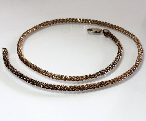 Vintage Sterling Silver Rose Gold Vermeil Chain 17.75 Inches Long - Greg DeMark