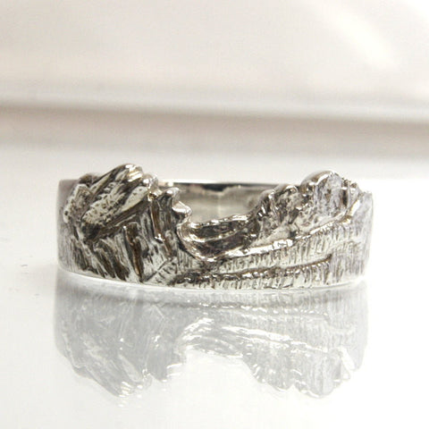 Mens Handmade Sterling Mountain Range Ring Size 11 - Greg DeMark