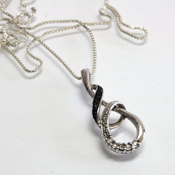 Infinity Necklace Sterling Silver With Diamonds And 20 Inch Chain - Greg DeMark