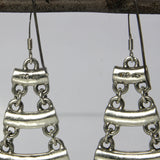 Vintage Sterling Silver Chandelier Earrings 2 Inches Long - Greg DeMark