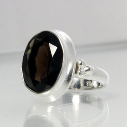 Vintage Sterling Smokey Quartz Ring Size 6 - Greg DeMark