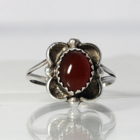Vintage Sterling Carnelian Ring Size 5.25 - Greg DeMark