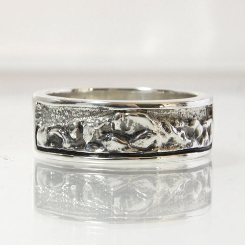 Sterling Silver Mountain Wedding Band Pikes Peak Size 10.5 - Greg DeMark