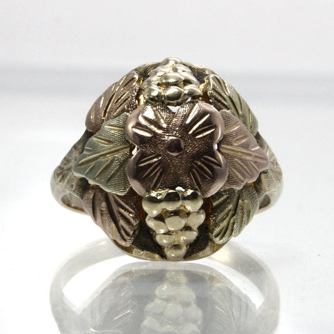 Vintage 10K Black Hills Gold Ring Size 7.5 Stamper - Greg DeMark