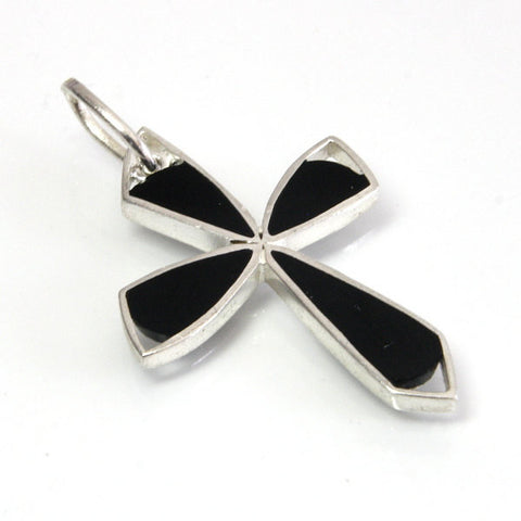 Vintage Sterling Black Onyx Cross Pendant - Greg DeMark