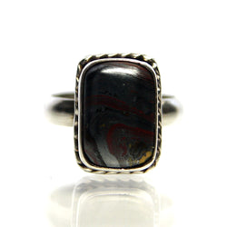 Vintage Sterling Silver Ring With Jaspilite Gemstone Cabochon - Greg DeMark