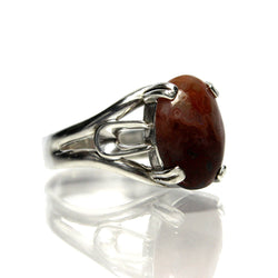 Vintage Sterling Silver Lace Agate Ring - Greg DeMark