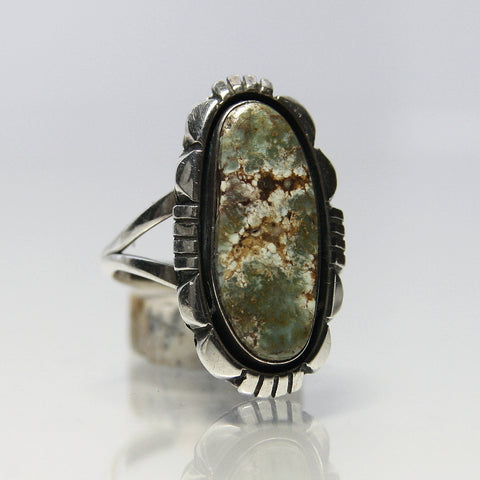 Navajo Turquoise Ring By Lonnie Willie - Greg DeMark