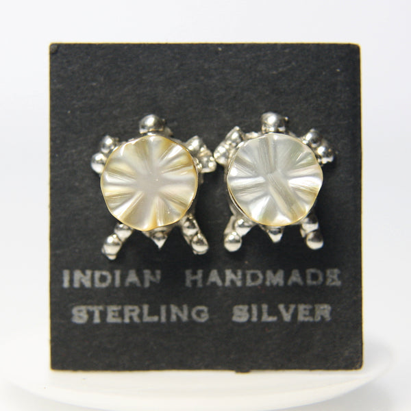 Native American Indian Turtle Earrings Sterling Silver - Greg DeMark