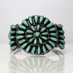 Turquoise Petit Point Cuff Bracelet By Navajo Paul Jones - Greg DeMark