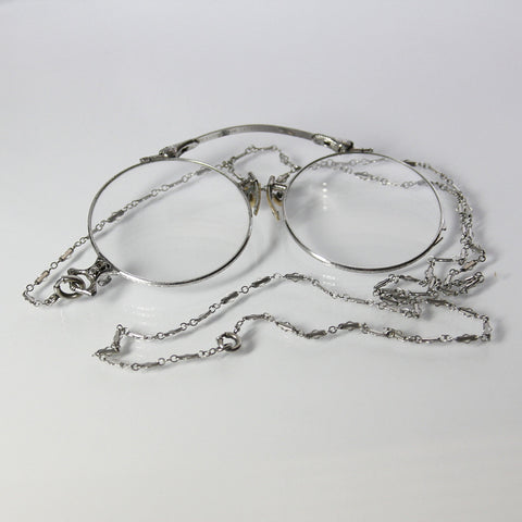 Art Deco Pince Nez Folding Eyeglasses With Original Chain - Greg DeMark