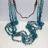 Vintage Santo Domingo Turquoise And Shell Heishi Necklace - Greg DeMark