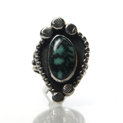 Vintage Southwestern Sterling Silver And Veriscite Ring - Greg DeMark