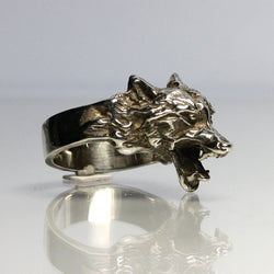 Vintage Sterling Silver Wolf Ring - Greg DeMark