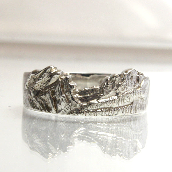 Mountain Ring Wedding Band Sterling Silver - Greg DeMark