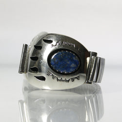 Native American Lapis Lazuli Bear Paw Watch Band By Teddy Goodluck Jr. - Greg DeMark