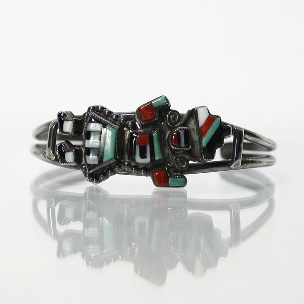 Zuni Rainbow Man Bracelet By Natachu For A Small Wrist Size - Greg DeMark