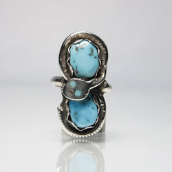 Vintage Zuni Snake Ring By Effie Calavza - Greg DeMark