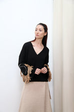 Circle Fringe Sweater | Black