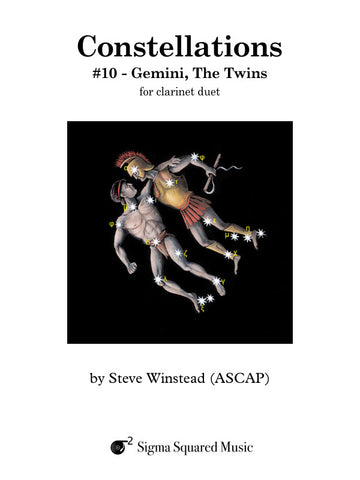 Constellations: #10 - Gemini, The Twins for Clarinet Duet
