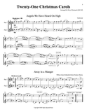 Twenty-One Christmas Carols for Flexible Brass Duet