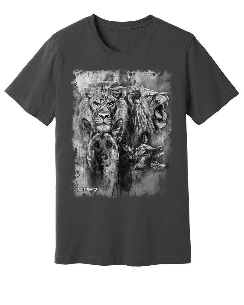 German Shepherd & Lion - Spirit Animals - Shirt - Design 13