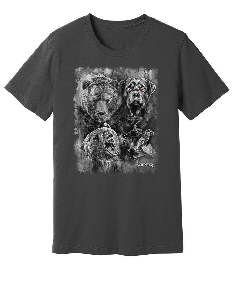 Rottweiler & Grizzly Bear - Spirit Animals - Shirt - Design 16