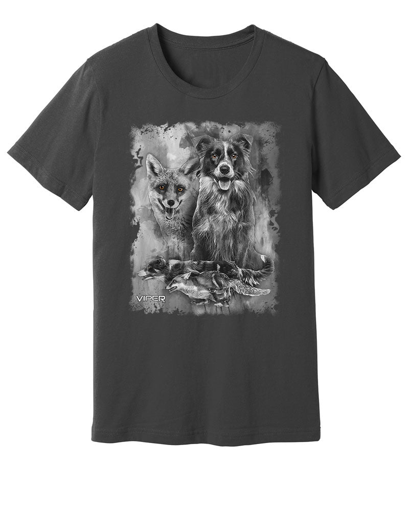 Border Collie & Fox - Spirit Animals - Shirt - Design 17