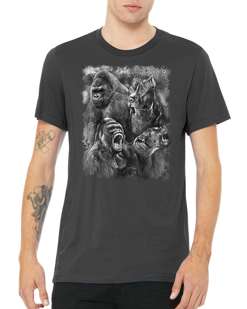 Pitbull & Gorilla - Spirit Animals - Shirt - Design 18