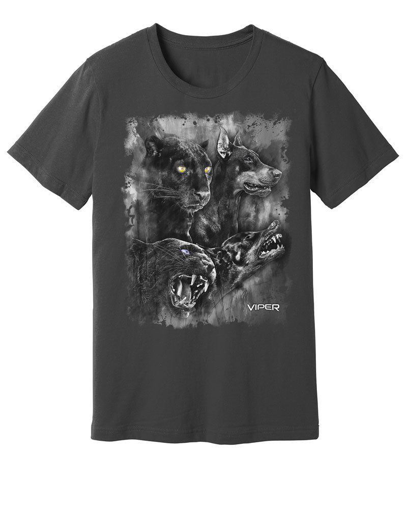 Doberman & Black Panther - Spirit Animals - Shirt - Design 19