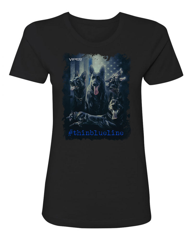 German Shepard - #thinblueline - Shirt - Design 1
