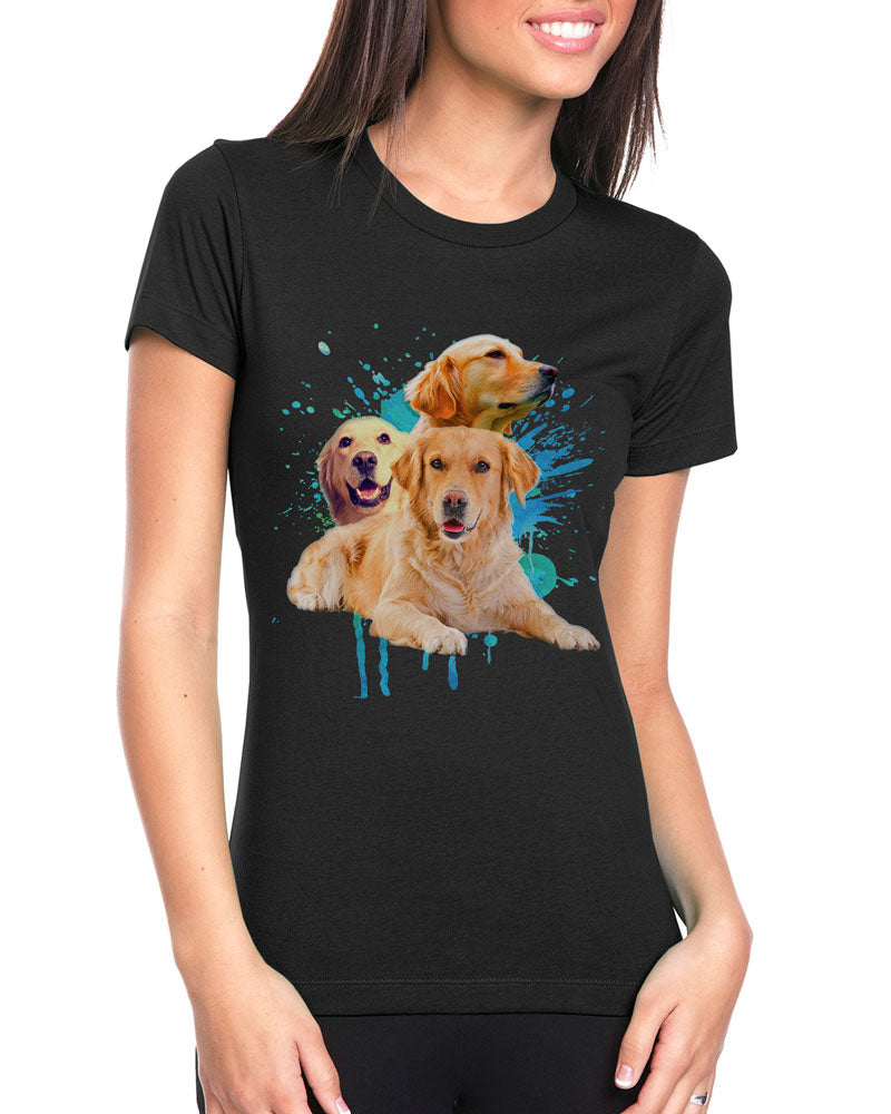 Golden Retriever - Splash - Shirt - Design 22