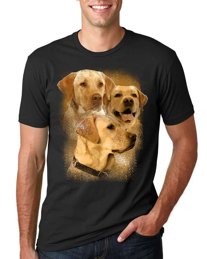 Yellow Labrador - Splatter - Shirt - Design 24