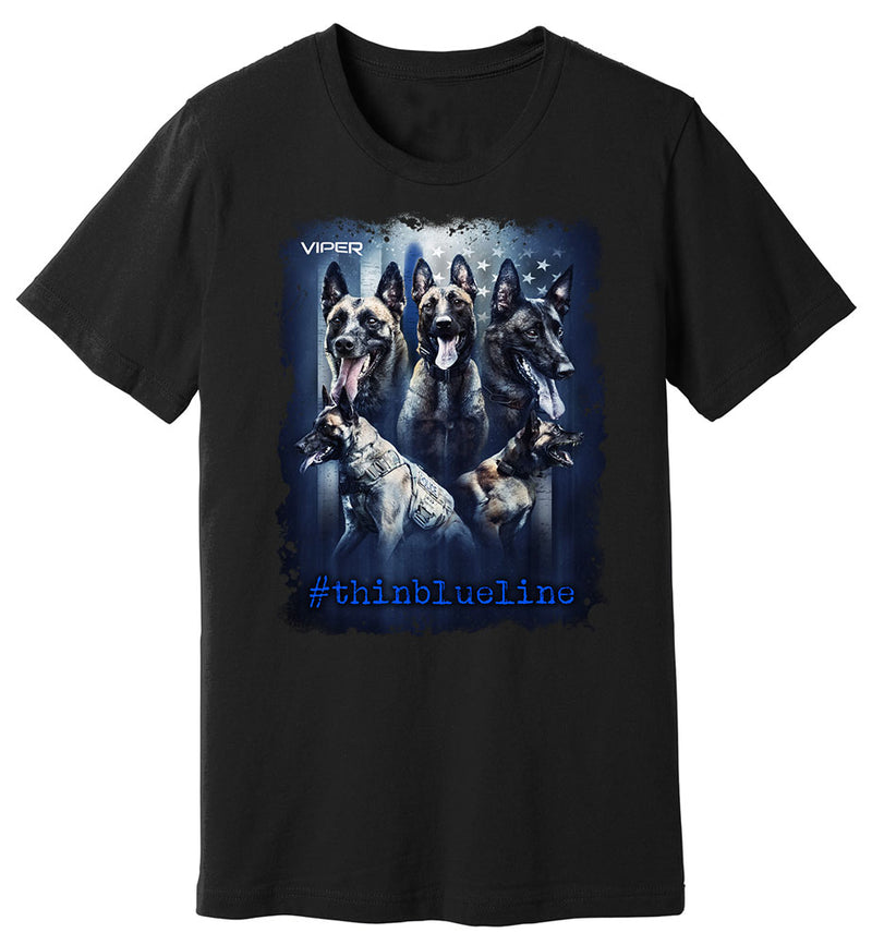 Belgian Malinois - #thinblueline - Shirt - Design 2